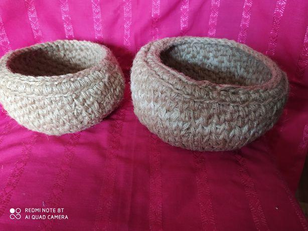 Hand made ЭКО салатницы вазочки плетенки