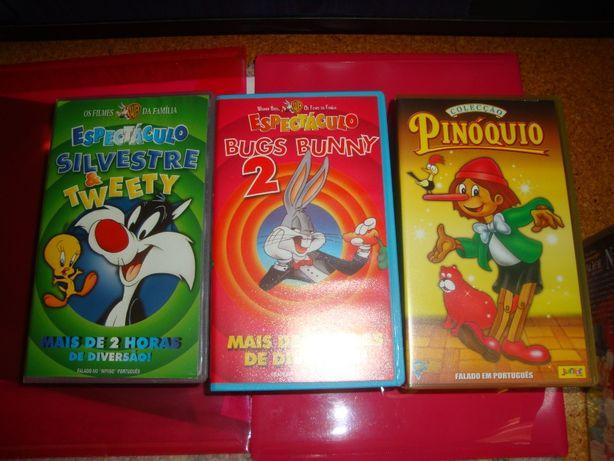 Cassetes vhs de desenhos animados