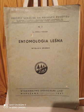 Entomologia Leśna Nr. 2 Witold Koehler rok 1947 dla leśnika