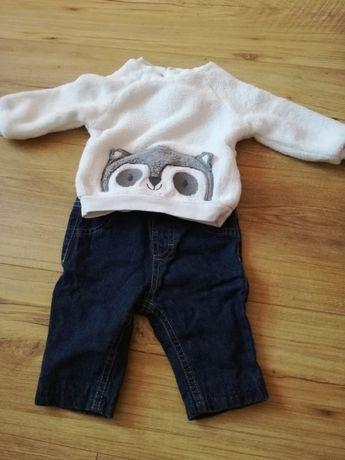 Komplet niemowlęcy, bluza+spodnie, marki C&A, r.62