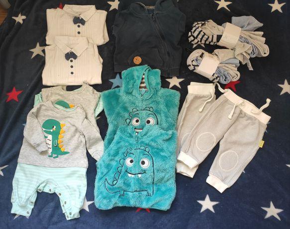 Ubranka podwójne r.62 Cool club bluzy spodenki rajstopy-nowe 3pack.