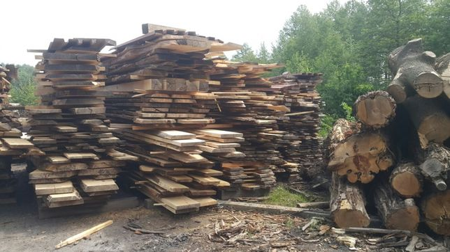 Foszty deski tarcica lite drewno dąb orzech włoski jesion wiąz loft
