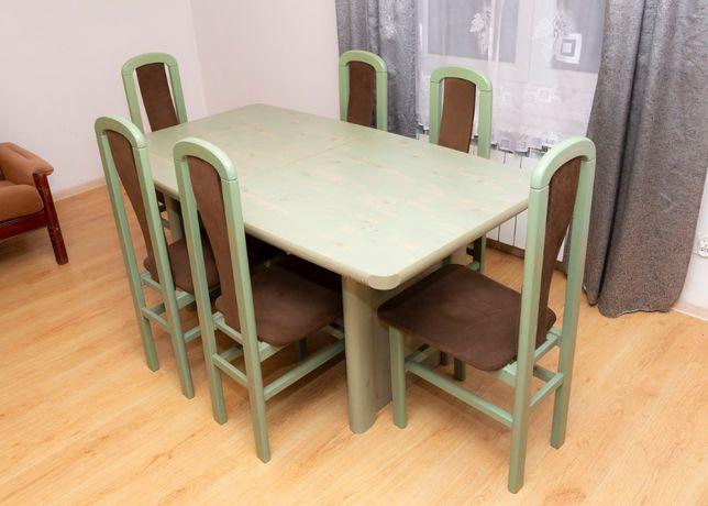 Stół rozkładany z krzesłami - komplet - wszystko w dobrym stanie.