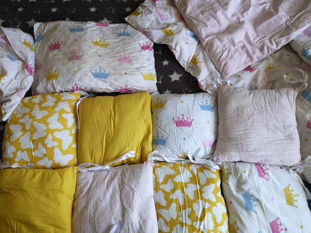 Бортики в кроватку, подушка одеяло, постель