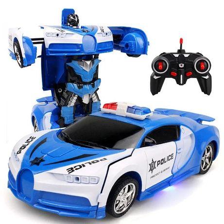 Радиоуправляемая машинка-трансформер Bugatti Robot Car