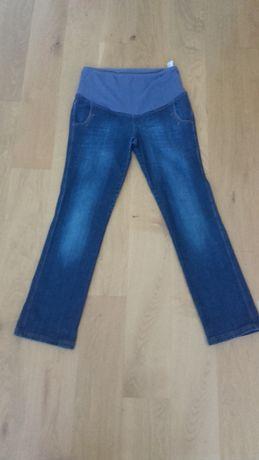 spodnie ciążowe dżinsy rozm. XL Branco + bluzka H&M Mama rozm.L
