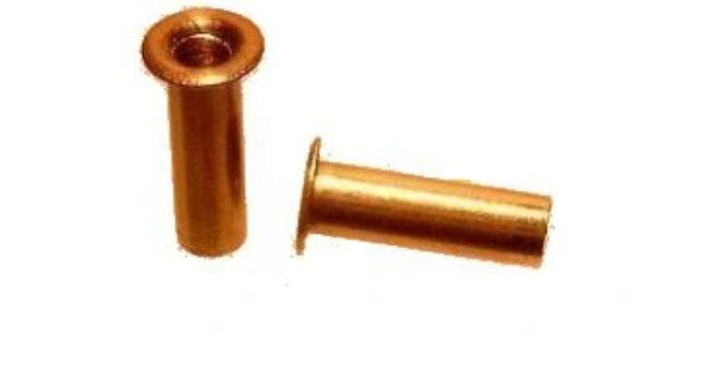 Nity rurkowe  Nit rurkowy do elektroniki małe śrubki miedziane 2.5 mm