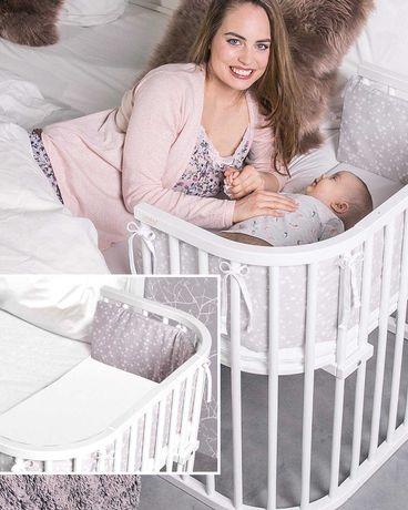 Дитяче ліжко TOBI babybay boxspring бук лакований блан