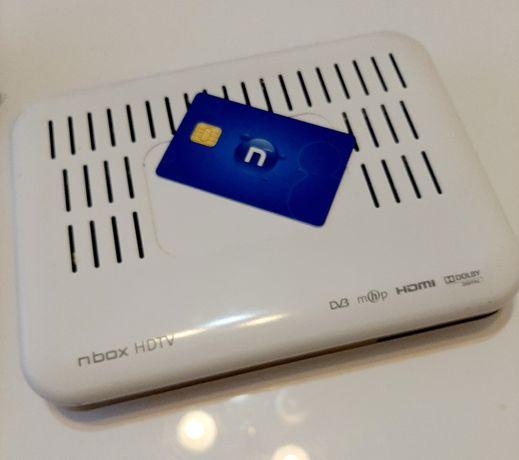 Dekoder cyfrowy nbox hdmi karta kable zasilacz