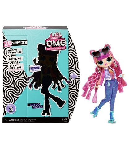 LOL OMG  Roller Series 3  Chick Кукла ЛОЛ ОМГ Диско Скейтер