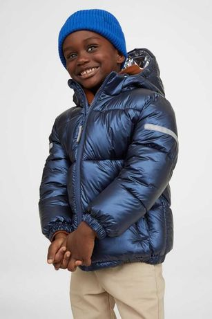 Новая куртка пуфер h&m 9-10лет