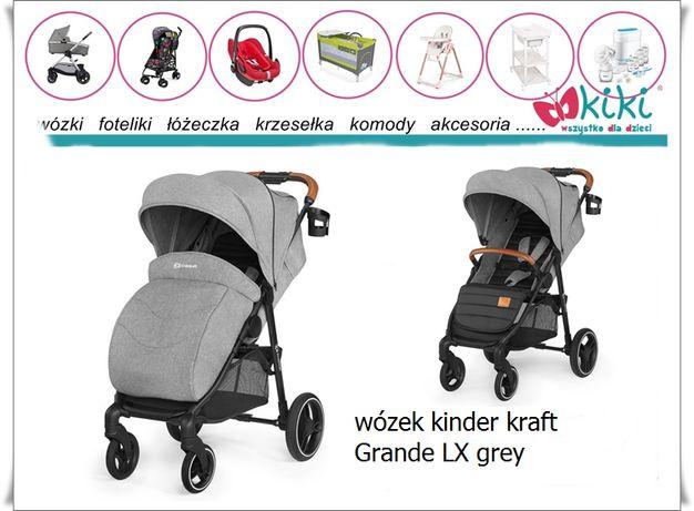 Kinderkraft wózek spacerowy Grande LX szary