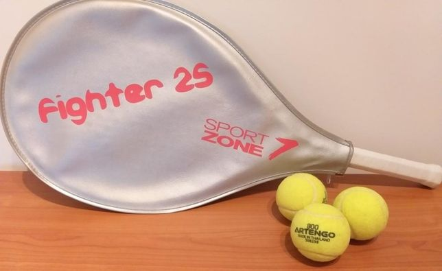Raquete ténis Sport Zone Fighter 25 + 3 bolas
