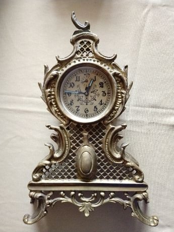 Zegar mosiężny mechaniczny