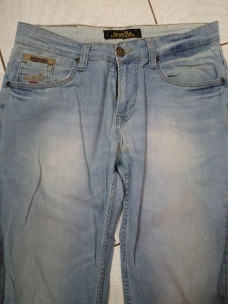 Spodnie Jeansowe lajkrowane Hermes Paris 32/32 w bardzo dobrym stanie