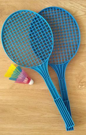 Plastikowe rakiety paletki tenisowe do badmintona i lotki zestaw
