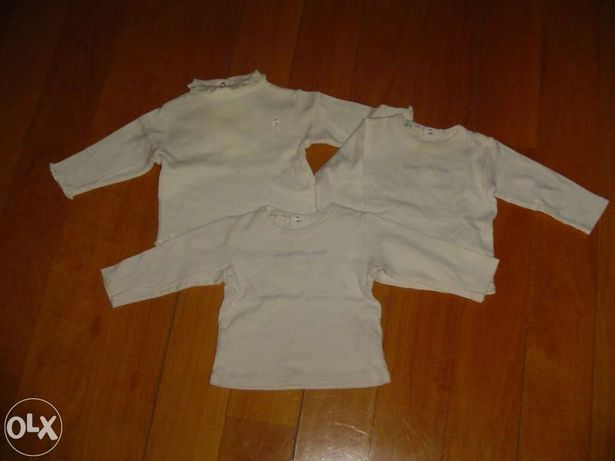 3 Camisolas Menina 3-6 Meses