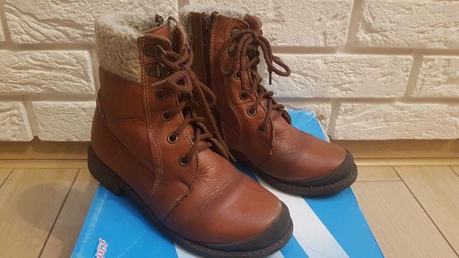 Buty zimowe skórzane r.33 Łukbut