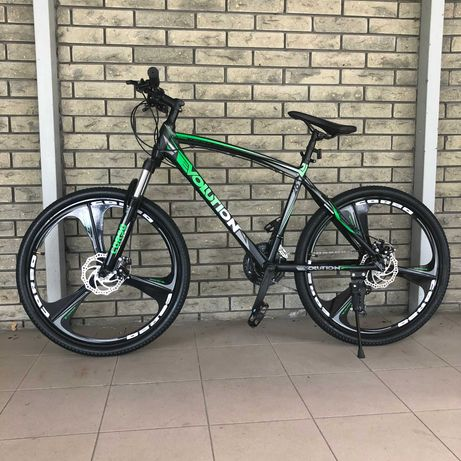 """Велосипед спортивный горный Evolution на литых дисках 26"""" Зеленый"""