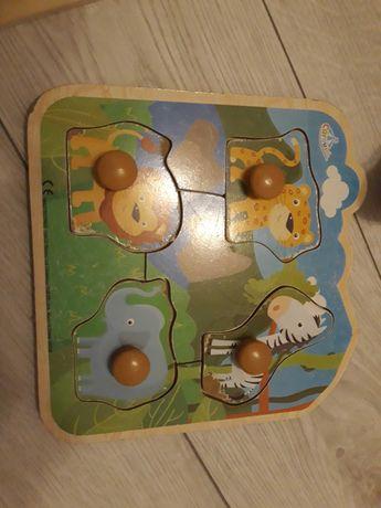 Drewniane puzle 3 szt