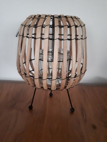NOWY lampion bambusowy, latarnia, świecznik  styl boho naturalny