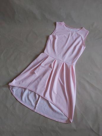 NOWA asymetryczna rozkloszowana sukienka damska M