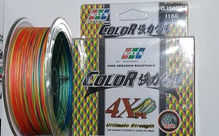 Шнур multicolor EOS Ultimate Stregth 100м 4Хpe