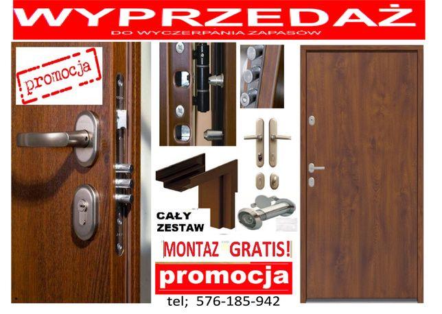 Drzwi do mieszkania w bloku , WEJŚCIOWE-zewnętrzne z montażem GRATIS