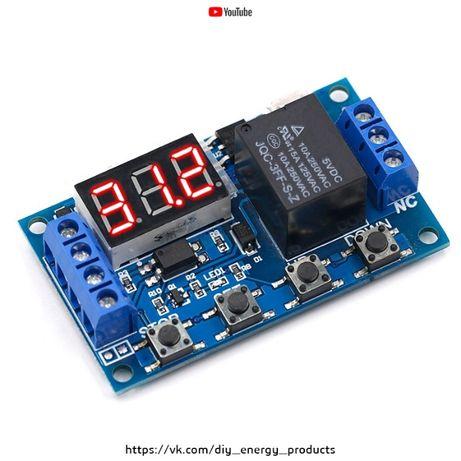 Реле времени задержки 6-30 В. Micro USB 5 в