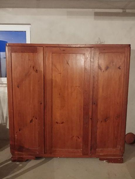 Szafa trzydrzwiowa drewniana | Antyk