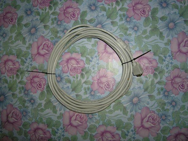 VGA кабель - 5 м. Для компьютера\проектора или телевизора!