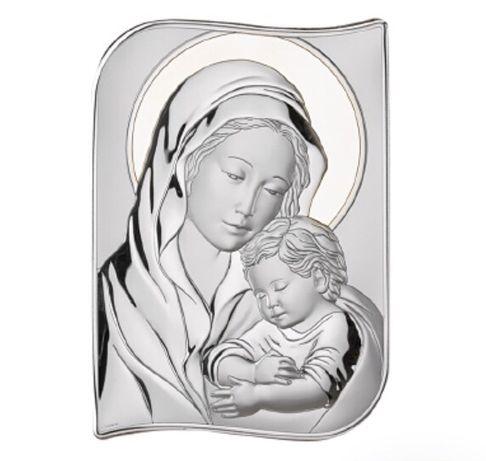 ŚLUB Komunia Chrzest Roczek obrazek święty MARYJA z dzieciątkiem