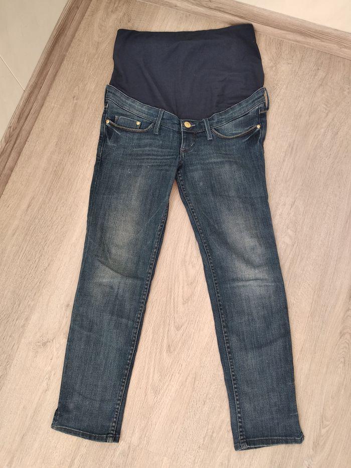 Модные укороченные джинсы для беременных фирмы H&M mama Размер 36 Мариуполь - изображение 1