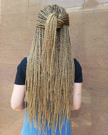 Сенегальские косы плетение