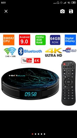 HK1-plus TV Box 4К Video Android 9.0 DDR4 4gb/64gb