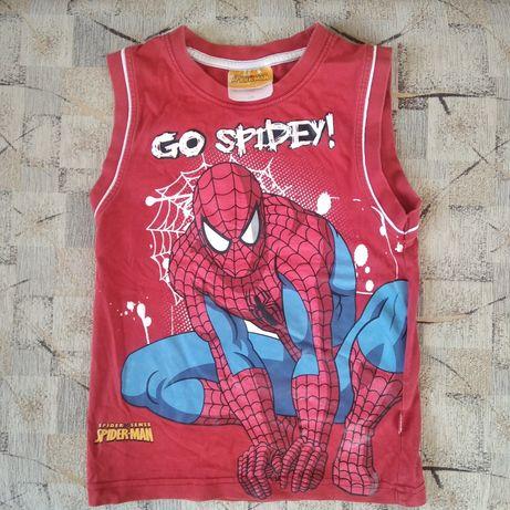 Czerwona bluzeczka Spider-Man bez rękawków rozm. 116