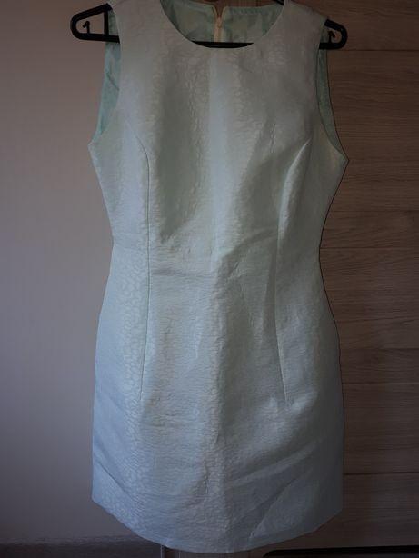 Elegancka sukienka na wesele na święta r.S błękitna
