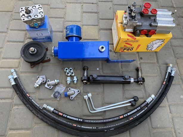 Гидравлика мини-трактор мото-блок (насос НШ-10 левый, привод шкив А)