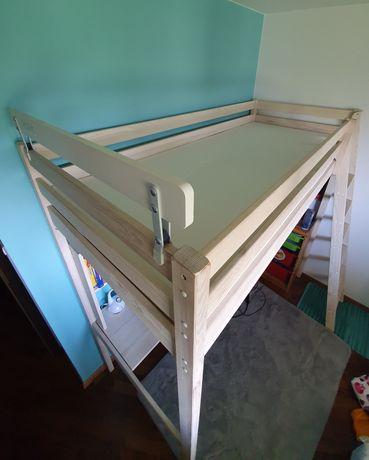 Łóżko piętrowe antresola z biurkiem