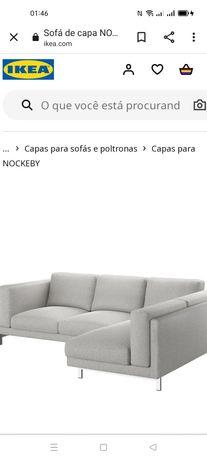 Capas p/sofá 3Lug. Nockeby IKEA. NOVA