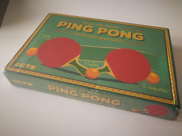 Jogo de ping pong portátil