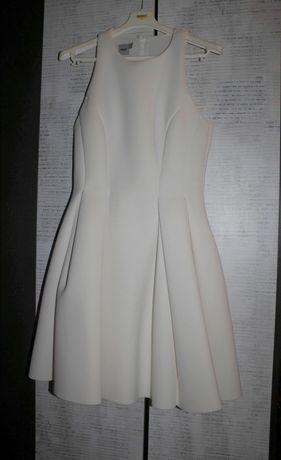 Sukienka biała z pianki rozkloszowana Asos, rozmiar 38/M
