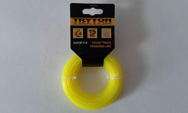 """Żyłka Tnąca """"Tryton"""" przekątna 2,40 mm, długość 15 m - super jakość"""