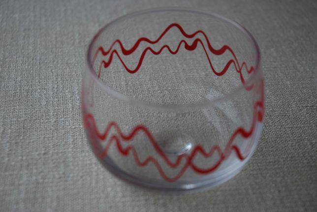 Taça de vidro pintada