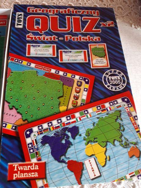Gra planszowa quiz geograficzny