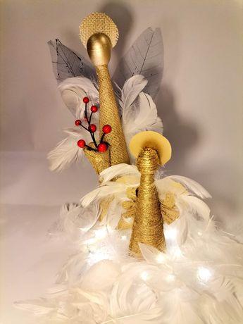 Anioły ręcznie wykonane na święta