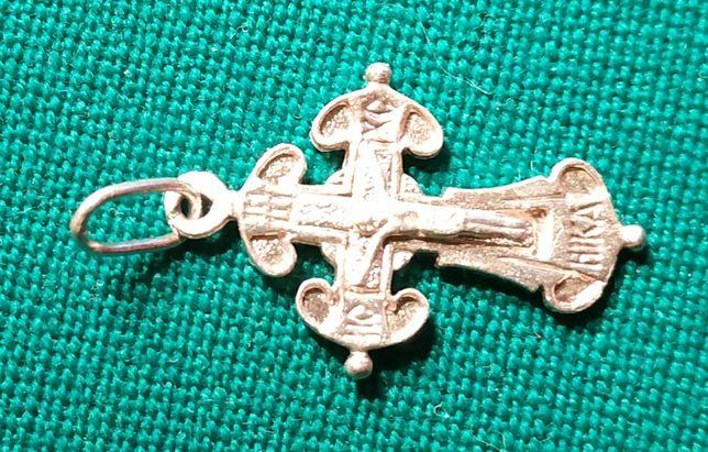 Крест нательный антикварный, Ag 925 пробы.