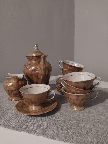 Zestaw porcelany z okresu PRL, 14 elementów, rarytas dla kolekcjonerów