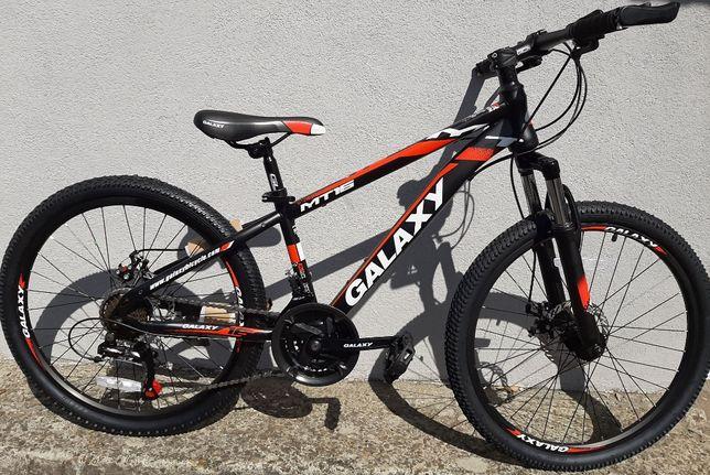 Rower MTB GLX GALAXY 24 Shimano hamulce tarczowe nowy model amrtyzat
