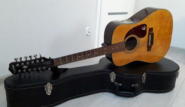 Gitara akustyczna Epiphone PR-350 12 + twardy case + przystawka OKAZJA